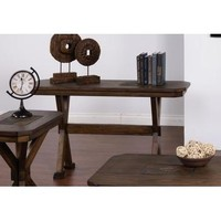 Sunny Designs 3237AC-S Savannah Sofa Console Table In Antique Charcoal