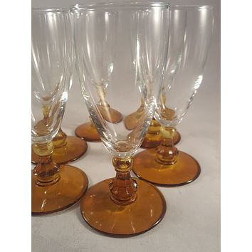 Amber Stem Wine/Champagne Glasses