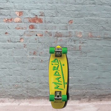 "Madrid Midget Party Yellow Cruiser Skateboard - Pee Wee 23.25"" - Complete"