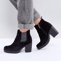 Tommy Hilfiger Denim Stacked Heel Ankle Boot at asos.com