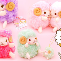 Buy Amuse Girly Rosy Wooly Sheep 6-Inch Plush at Tofu Cute