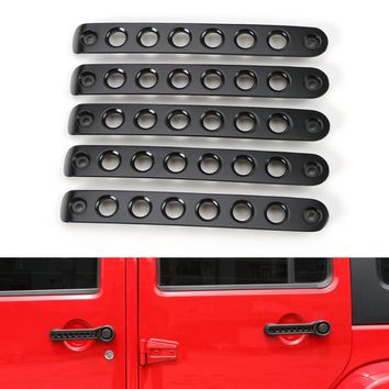 For Jeep Wrangler Door Grab Handle Bar Cover Trim Styling Car covers 4 Doors 07-15 5 Color Automobile Decor Moulding Accessories