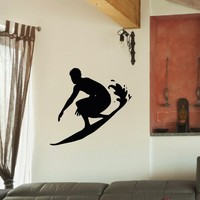 Wall Decal Vinyl Sticker Sport Surfing Surfer Surfboarding Decor Sb500