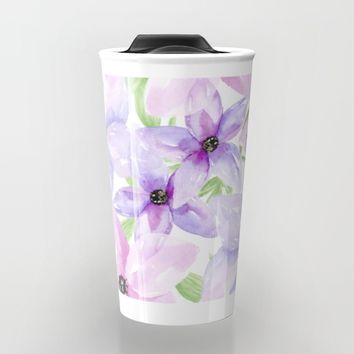 clematis vines Travel Mug by Sylvia Cook Photography