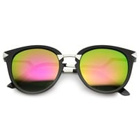 Women's Trendy Flash Mirror Lens Lightning Temple Sunglasses 9834