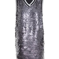MSGM | Tunic Dress with Metallic Disk Detail | Browns fashion & designer clothes & clothing