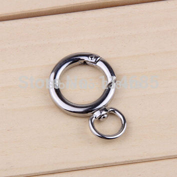 Locking Mounting climbing Carabiner Snaphook key ring Holder Plated Gate Spring Ring Push Snap Hooks for Purses and Handbags