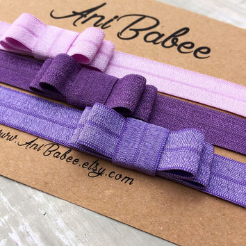 Baby headband, Purple  baby headband,Baby bow headbands, baby headband set, shabby chic, girls headband, teen, womens, infant headband