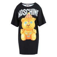 "Hot Sale Moschino ""Diamond Bear"" Fashion Women T Shirt Loose Short Sleeves Dress"