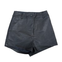 Stretchy Leather Hot Shorts