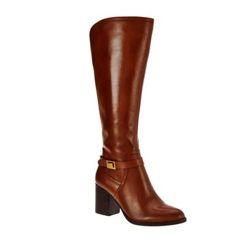 Franco Sarto Arlette Tall Shaft Medium Calf Boots in Cognac Leather
