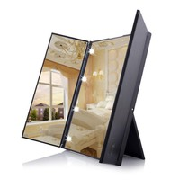 Folding Desktop Mirror w/ 8 LED Lights