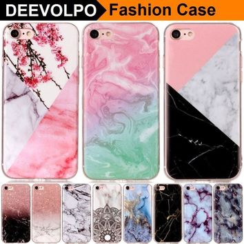 DEEVOLPO Case For Apple iPhone X 8 7 Plus 6+ 7+ 8+ 4S 5 5S SE 5C 6 6S ipod touch 6 Soft Slim Smartphone Silicone Cover Skin DP02