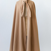 vintage 1970s camel wool knot cape [Pepperell Mill Cape] - $128.00 : ADORED | VINTAGE, Vintage Clothing Online Store