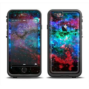 The Neon Colored Paint Universe Apple iPhone 6 LifeProof Fre Case Skin Set