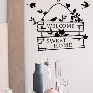 Welcome Sweet Home Decoration Wall Decals