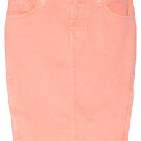 Christopher Kane | + J Brand Stretch-denim pencil skirt | NET-A-PORTER.COM