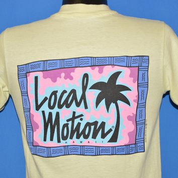 80s Local Motion Hawaii Surf Neon t-shirt Small