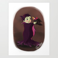 Disney Little Villain - Maleficent Art Print by Vivianne Du Bois