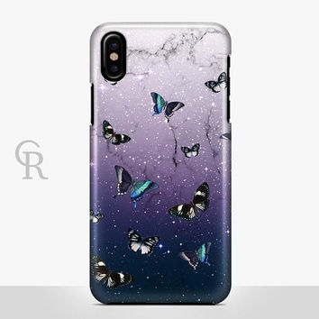 Butterfly Phone Case For iPhone 8 iPhone 8 Plus iPhone X Phone 7 Plus iPhone 6 iPhone 6S  iPhone SE Samsung S8 iPhone 5 Animal Marble