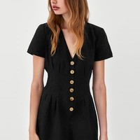 SHORT JUMPSUIT WITH DARTS