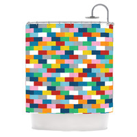 "Project M ""Bricks"" Shower Curtain"