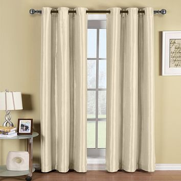 BEIGE 42x63 Soho Grommet Thermal coating Blackout Window Curtain Panel