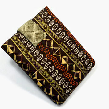 Hand Crafted Tablet Case from Ethnic /Native American Print  Fabric /  Case for iPad,  Kindle Fire HD, Google Nexus , Samsung Galaxy Tab
