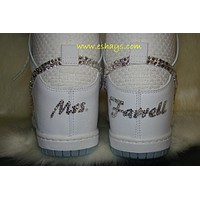 Initial Personalized White Nike Dunks