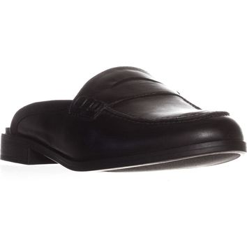naturalizer Villa Backless Penny Loafers, Black Leather, 11 N US