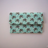 Skulls on Flannel Credit Card Case Frequent Shopper Business Card