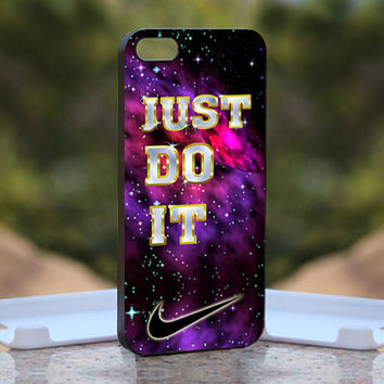 Purple Nabula Just Do It  - Design available for iPhone 4 / 4S and iPhone 5 Case - black, white and clear cases