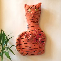 Orange Tabby Cat Ceramic Wall Art