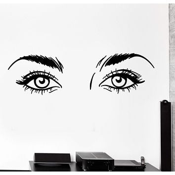 Vinyl Wall Decal Beauty Hair Salon Sexy Girl Womant Eyes Big Cozy Decor Unique Gift z4454