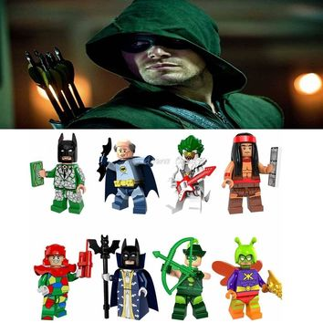 Legoing DC Detective Comics Superheroes figures Oliver Queen Batman Music Clownr Model Building Blocks Toys for Children Legoing