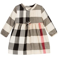Baby Girls Beige Check Dress