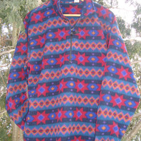 Rad 90s Aztec Pattern Fleece Pullover