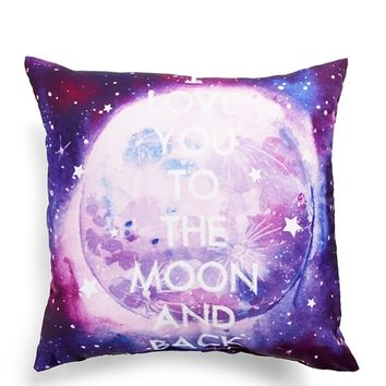 Love You to the Moon Pillow