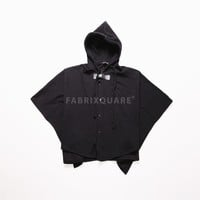 Mens Vandalique Buckled Cape Jersey Hoodie at Fabrixquare