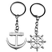 1 Pair Silver Alloy Arrow Bow Love Keyrings Key Chains Lovers Couples Gift sale = 1929967748