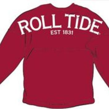 Alabama Roll Tide Spirit Jersey Shirt Crimson