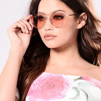 Crysta Sunglasses - Rose Gold