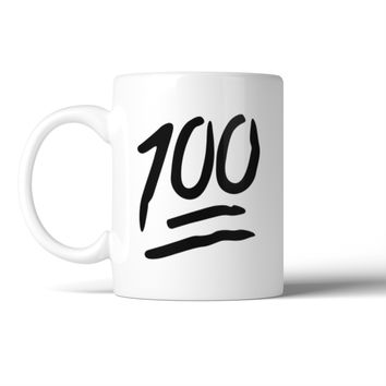 100 Points Mug Ceramic Coffee Mugs Gift For Christmas Birthday