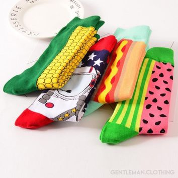Men's Funky Food Collection Socks - 4 Styles