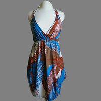 NWT Abstract Design  Summer Short Dress. Hit's at knee. Size Large