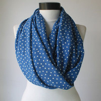 blue star scarf,infinity scarf, scarf, scarves, long scarf, loop scarf, gift