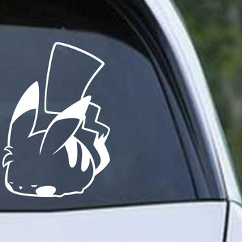 Pokemon Sleeping Pikachu Die Cut Vinyl Decal Sticker