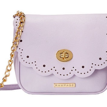 Rampage Scallop Edge Crossbody Lavender - 6pm.com
