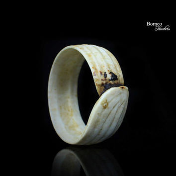 "Clam Shell Armlet 3.25"" Vintage Borneo Tribal Dayak Iban Bangle/Bracelet/Armlet Jewelry Ethnic Adornment Tridacna Gigas Natural Ridge"