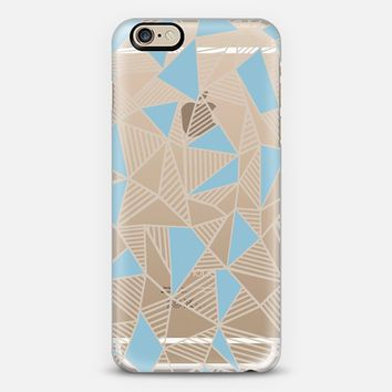 Ab Nude Lines With Sky Blue Blocks Transparent iPhone 6s case by Project M | Casetify